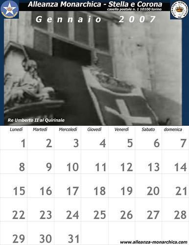 Calendario gennaio 2007