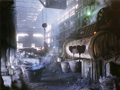 Smelter, Zambia (mm-j) Tags: africa archive 1999 mining copper zambia contaxt2 copperbelt scanfromprints