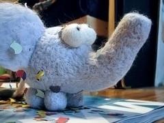elefma (toyutoy) Tags: elephant art animal toy felting handmade craft needle