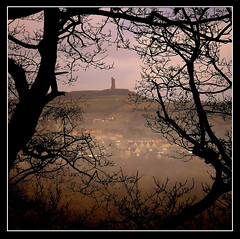 Misty Afternoon (Mike Carter) Tags: park trees winter mist hill beaumont huddersfield casle impressedbeauty