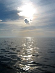 Row, row, row your boat... (macropoulos) Tags: sea sky topf25 silhouette geotagged boat 500v20f aegean greece 500v50f rowing thessaloniki rays gettyimages crepuscular canonpowershots45 1000v40f mywinners 50faves50comments500views geo:lat=40599747 geo:lon=22948916 gettyimages:date_added=pre20110607