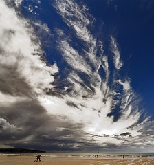The storm approaches (fotofacade) Tags: sky people cloud storm beach whitby fotofacade hardesque