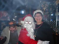 Jamie, Santa and Joanne 2 (RevSpikeBeasley) Tags: 2006 christmasparty karaoke eaglesnest