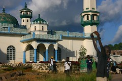 Mosque (LindsayStark) Tags: africa travel boy people war mosque sierraleone conflict humanrights humanitarian displaced idpcamp refugeecamp idps idp humanitarianaid emergencyrelief idpcamps waraffected