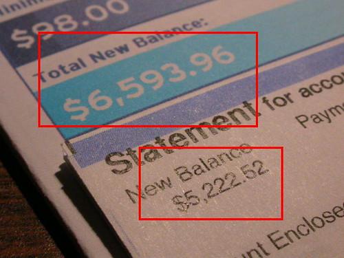 這月的帳單