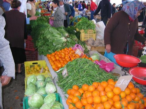 Alimentos sanos de mercado