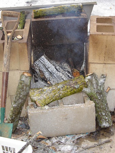 Make-shift fire place