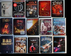 Rock DVD Collection 3 (Highway Star Benz) Tags: winter rock night cat dvd eric stevens bad rick joe company edgar dio m3 g3 blackmores woodstock clapton satriani knebworth derringer qeen