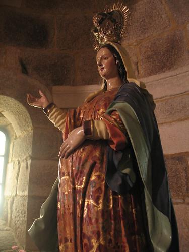 Pregnant Virgin statue