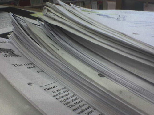 Pile of paper and articles