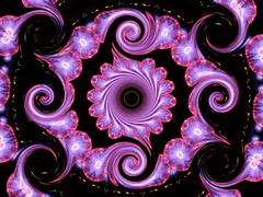 Purple electric light spirals - by Marco Braun