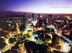 dalian() (RYU_PHOTOGRAPHER) Tags: china city light sunset building night twilight asia dalian