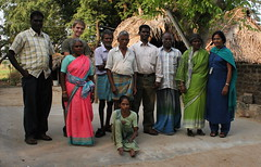 Group shot at the lepor colony (sixintheworld) Tags: india rtw leprosy dax roundtheworld padma lepor servicechennai