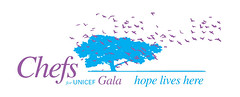 Chefs for UNICEF Gala 2006 - Logo treatment (monkeys with tails) Tags: design
