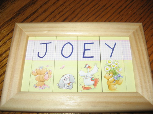name plaque from Boy and Baby