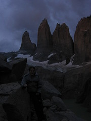 Silhouette of the Torres del Paine