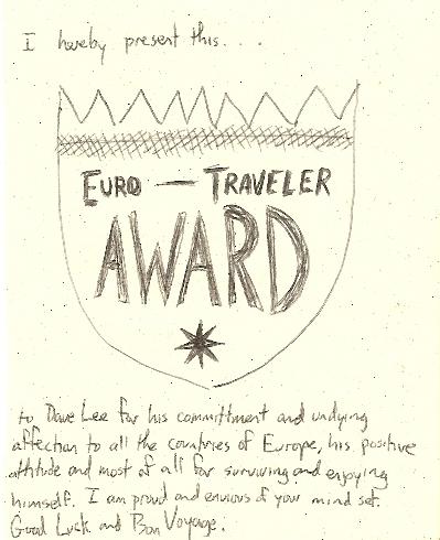 Euro-Traveler Award