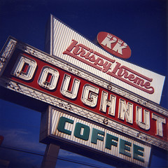 Krispy Kreme (jhary) Tags: color georgia print square holga scan signage mecca macon roll03 january2007 weirdgeorgia