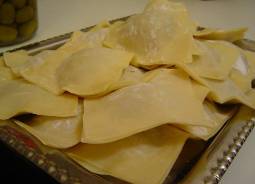 raw won-ton ravioli