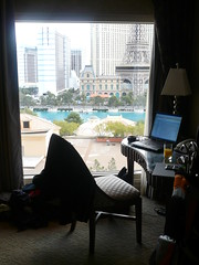my office for today (dennis) Tags: lasvegas bellagio myoffice