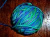 blue yarn