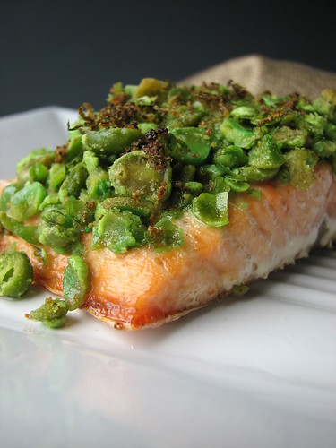 Wasabi Salmon with Lime I