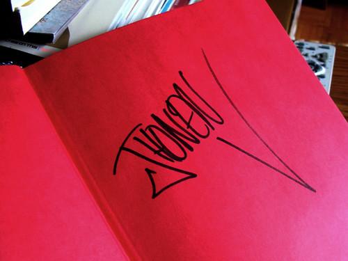 Jhonen Vasquez's signature