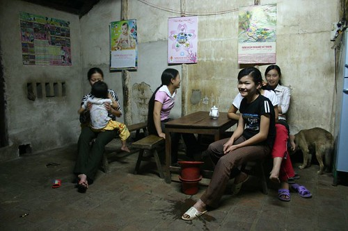 Hoang's family in Dong Tam.