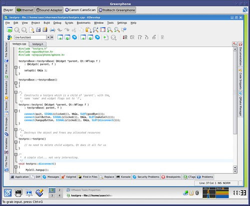 KDevelop IDE for Qtopia back end software Development