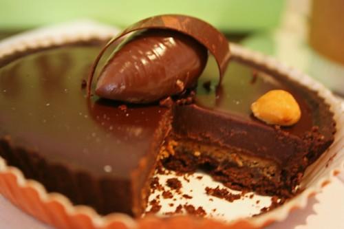 Innards of Chocolate Tart