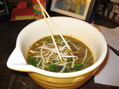 Pho in Mixing Bowl