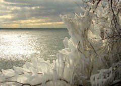 Winter Hangs On (gardinergirl) Tags: winter light sky toronto ice lakeontario explored abigfave humberbayparkeast anawesomeshot impressedbeauty wowiekazowie justwhenithoughtiwasboredwithwintershots thismorningcamealongandishotatonnemore hopeyourenottoosickofthemyet