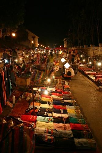 Louang Prabang night market...