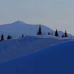 snowbank to mountain layers - by paul+photos=moody