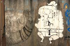Street art (Alfred Hermida) Tags: wood streetart art strange wall graffiti artwork cartoon creative odd 365 quirky scribble guesswherevancouver project365 pointivanrabano