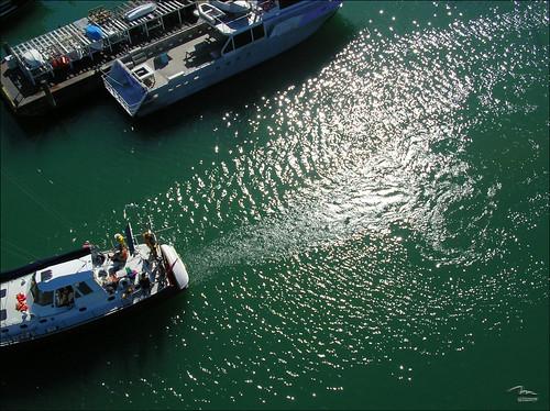Yacht returning to dock