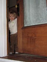Z opens the front door