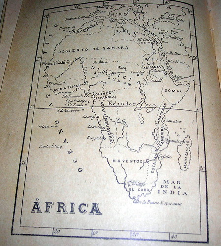 African map at an angle