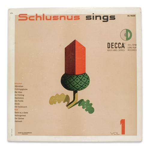 Schlusnus sings Vol. 1 / Erik Nitsche Design Archive