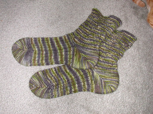 Completed Inside-Out socks