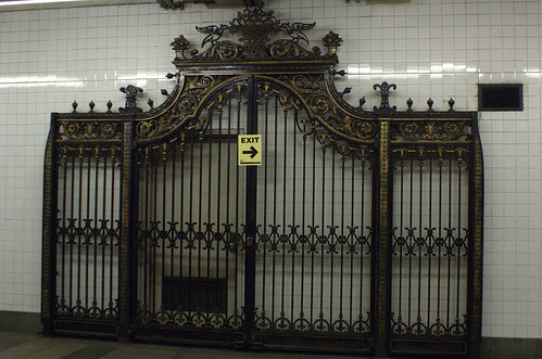 Ironwork gate from the Marine Grill Restaurant, Broadway-Nassau Subway Station
