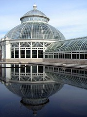 Enid A. Haupt Conservatory Bronx Botanical Gardens (Trish Mayo) Tags: newyork reflection building glass architecture bronx conservatory structure e orchidshow linescurves supershot bronxbotanicalgarden abigfave enidahauptconservatory wowiekazowie