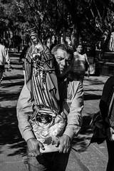 Gran Virgen (SeñorNT) Tags: virgin guadalupe catholic fe street calzada slp blackandwhite