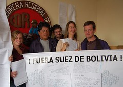 Fuera Suez (solidaridad_bolivia) Tags: elalto suezcartas