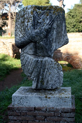 Statue at Ostia Antica