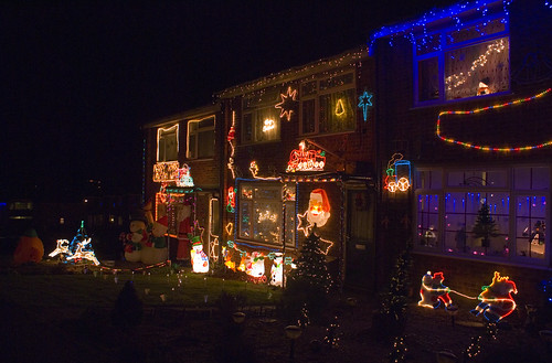 Christmas Lights in Lawson Way, Sheringham