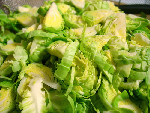 Hashed Brussels Sprouts, raw