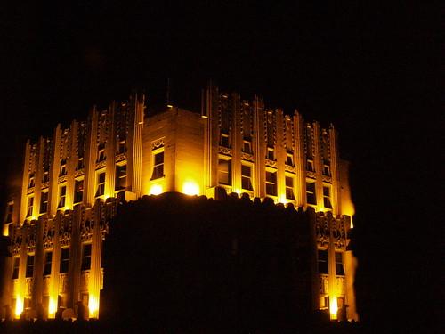 Art-Deco Building at night