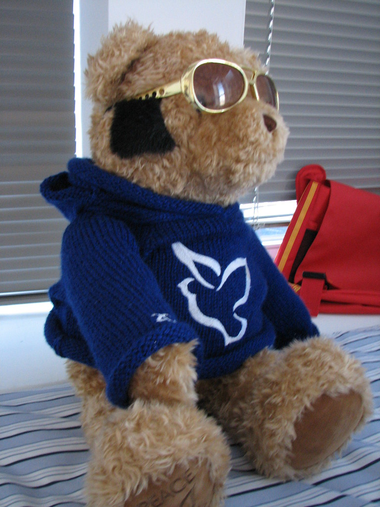 Elvis bear - side
