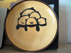 Panda on plate (Bubi Au Yeung) Tags: cup diy panda bubi plate product handdrawn ilovepanda firsttimetodrawonplate